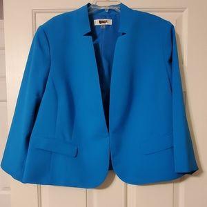Jones Studio Turquoise Blue Blazer EUC 2X